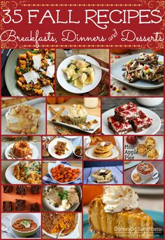 35 Fall Recipes - from desserts to breakfast to dinner - something fall for everyone!