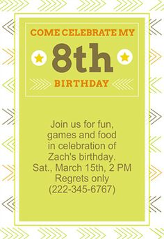 Movie night free printable birthday invitation template 8th birthday printable invitation customize add text and photos print for filmwisefo Images