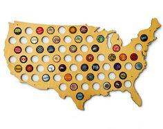 beer-cap-map housewarming gifts