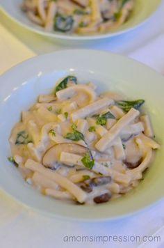 Mushroom Noodle Florentine is a tasty dinner recipe