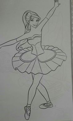 Ballerina Cartoon, Girl Cartoon, Coloring For Kids, Coloring Pages, Rangoli Designs, Faeries, Art Drawings, Barbie, Sketches