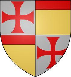 Armoiries Bernard de Tramelay - Category:Grand Masters of the Knights Templar - Wikimedia Commons