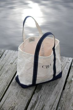 L.L. Bean Boat and Tote Bag! I need a new one with my new monogram!