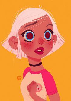 pink cherry, Magdalina Dianova on ArtStation at https://www.artstation.com/artwork/oNoqJ