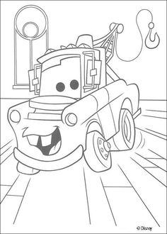 Cars coloring pages - Cars: Mater, chevrolet truck