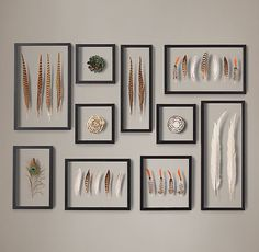 RH's Framed Feather Collection:Our feather collection showcases nature& delicate forms, nuanced colors and intricate patterns. Arranged in medallions, grouped with similar or contrasting specimens, these plumes embody the visual impact of art. Feather Crafts, Feather Art, Decoration Bedroom, Wall Decor, Home Decoracion, Pheasant Feathers, Turkey Feathers, Bird Feathers, Creation Deco