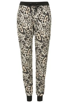 Photo 1 of Brushed Leopard Print Joggers