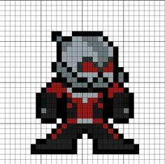 Ant-Man (Scott Lang) Perler Bead Pattern