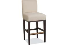 Lee Industries: 7003-52 Bar Stool - variety of fabric options.  Can have upholsterer laminate once finished.  Can also add nail head trim.