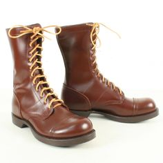 WW2 Corcoran Jump Boots Brown