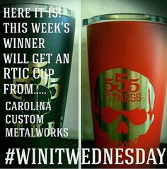 #WINITWEDNESDAY  BACK FOR ANOTHER CHANCE TO WIN?  This week we are giving away a sweet @carolinacustommetalworks RTIC powdercoated mug! Save yourself some cash and just win one instead!  Rules are simple: 1) Like this post 2) Follow @carolinacustommetalworks  3) Tag two of your friends (shared posts may get you bonus points)  ________________________________________  Want to be featured? Show us how you train hard and do work   Use #555fitness in your post.  You can learn more about us and…