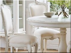 Home Discount Designer Brands - Up to off - BrandAlley Round Pedestal Dining Table, French Dining Chairs, Dining Room Table, Dining Set, French Country Furniture, Shabby Chic, Dining Room Inspiration, Furniture Makeover, Home Kitchens