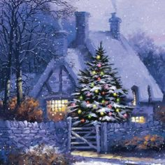 via Christmas Cottage Corner