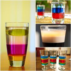 Layered Drinks and Jelly Shots!