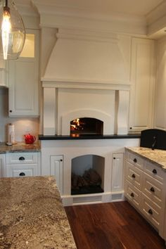 Indoor Wood Fired Pizza Oven Kitchen Design Ideas, Pictures, Remodel and Decor
