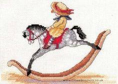 CROSS STITCH ROCKING HORSE PATTERN