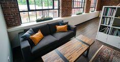 The Trades Mill 📍Amesbury, MA  #officedesign #interiordesign #luxuryvinylplank #lvt #flooring #woodlookdesign #coworkingspaces