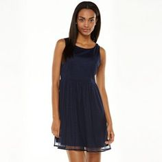 LC Lauren Conrad Dobby Mesh Fit & Flare Dress - Women's