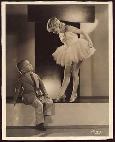 "brother and sister ""little people"" performers, Harry and Daisy Eearles, ca.1930"