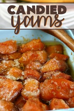 Candied Yams Recipe - - Learn how to make candied yams for your next family meal, it's so simple! This candied sweet potatoes recipe is easy and delicious! Candied Yams Easy, Best Candied Yams Recipe, Candied Yams Casserole Recipe, Southern Candied Yams, Easy Potato Recipes, Side Dish Recipes, Yam Recipes, Simple Sweet Potato Recipes, Diabetic Recipes