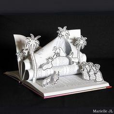 Crèche réalisée avec un livre - Décoration de Noël originale - Cadeau de Noël