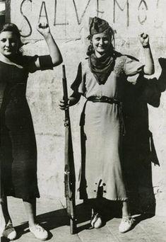 Milicianas anarquistas de La Guerra Civil Española (1936-1939).