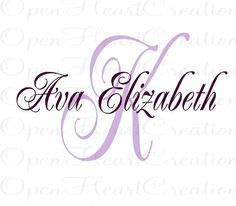 Initial and Name Monogram Wall Decal