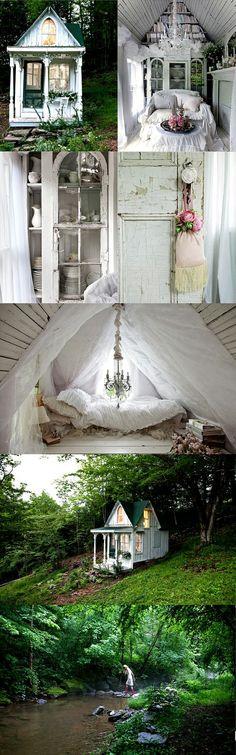 dreamy. every woman needs one. there must be a little house movement. Kyllä, tämän tarvitsisin...