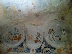 century frescoes in the fitting/dressing room of Lucrezia Borgia. Lucrezia Borgia, The Borgias, St Francis, 15th Century, Dressing Room, Fresco, Castle, Inspiration, Painting