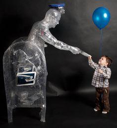 Flickr group on tape sculptures