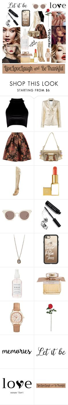 """""""Pretty as a Picture"""" by vanyaraina on Polyvore featuring Tom Ford, Boohoo, Balmain, Maje, Fendi, Vince Camuto, Maybelline, MaxMara, Bobbi Brown Cosmetics and Betsey Johnson"""