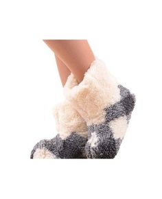 Marian Women's Natural Sheep Wool Warm Home Slippers, Bootie Shoes (5.5)