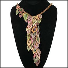 The most beautiful autumn leaves necklace I have seen. Design by Beki Haley.
