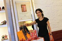 A estilista Raquel Davidowicz, da griffe UMA.