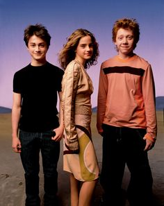 Daniel Radcliffe, Emma Watson, and Rupert Grint - Vanity Fair July 2003 - photo by Mark Seliger