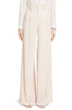 Alice + Olivia 'Eloise' Pleated Wide Leg Trousers available at #Nordstrom