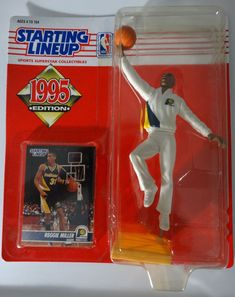 Nba Action Figures, Reggie Miller, Theme Sport, Baseball League, Army Men, Sports Basketball, Lineup, Baseball Cards, The Originals
