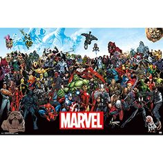 "Brand New Marvel(TM) Poster 22""""X34""""-The Lineup '15 Brand New M1N4B5 http://www.amazon.com/dp/B016VJLYD0/ref=cm_sw_r_pi_dp_1ALswb14KPZWB"