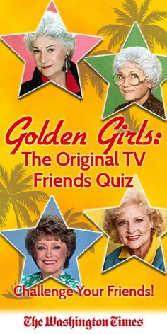 You know you love these ladies! But, can you ace the greatest Golden Girls quiz of all time? Let's see...