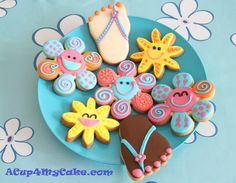 Flip-flop Cookies and Cheerful Flowers