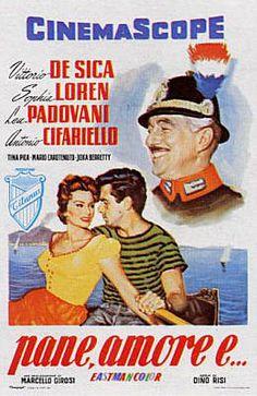 Film di Dino Risi - PANE AMORE E .... - 1955 - Commedia - INTERPRETI: Vittorio De Sica, Sofia Loren,  Lea padovani,  Antonio Cifariello