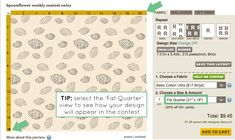 Spoonflower Bootcamp: How to size designs for the weekly contest