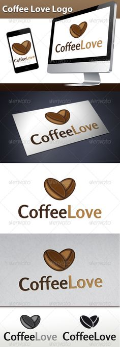 Coffee Beans Love Logo  #GraphicRiver         - Three color version: color, greyscale and single color.   - The logo is 100% resizable.   - You can change text and colors very easy using the named and organized layers that includes the file.   - The typography used is rosario you can download here:  .fontsquirrel /fonts/rosario       Created: 8October12 GraphicsFilesIncluded: VectorEPS #AIIllustrator Layered: Yes MinimumAdobeCSVersion: CS Resolution: Resizable Tags: agency #bar #brand…