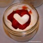 Valentine's Day - Heart topped Cherry Pie in a Jar - 4oz. jars.