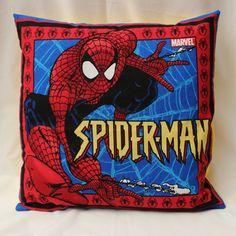 Handmade Spiderman Pillow Sham 16 x 16 inches