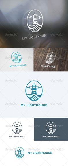 My Lighthouse Logo #studio #svg #brand • Click here to download ! http://graphicriver.net/item/my-lighthouse-logo/5706214?s_rank=851&ref=pxcr