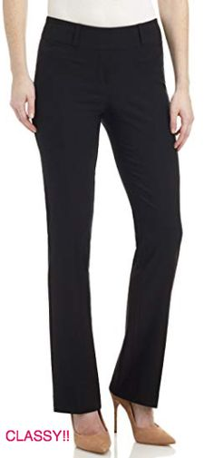 f6966ab0e6d25 Stretch Pants are great Yoga Pants for Work! MODERN STYLE : Our barely  bootcut pant