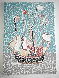 Mozaik yelkenli gemi
