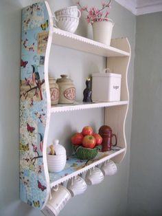 Vintage Lace Shabby Chic Songbird Shelves, Kitchen, Bathroom, Bedroom Shelves, Shelf, Shabby Chic Furniture, Bookcase: Amazon.co.uk: Kitchen & Home by mandragora.vallirana