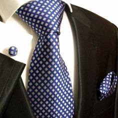 Designer Silk Ties, Neck Ties, Blue and Silver Neckwear, Tuxedo Vest Sets, Dress Shirts, Suits and more